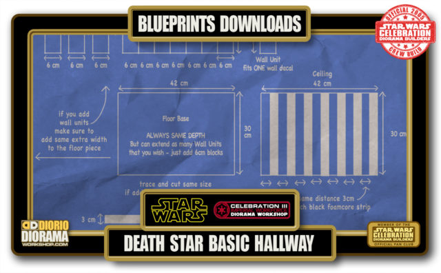 TUTORIALS • BLUEPRINTS • DEATH STAR BASIC HALLWAYS