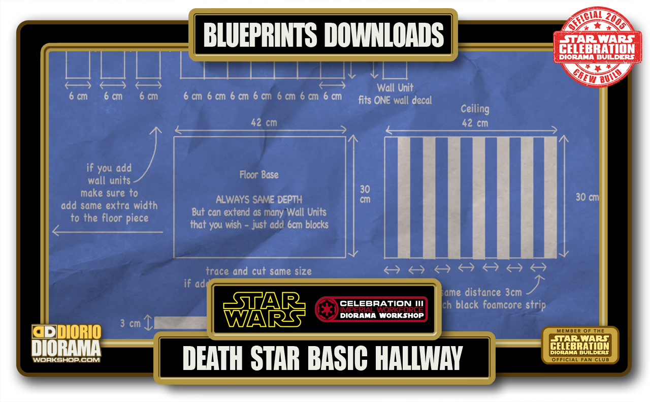 TUTORIALS • BLUEPRINTS • DEATH STAR BASIC HALLWAYS
