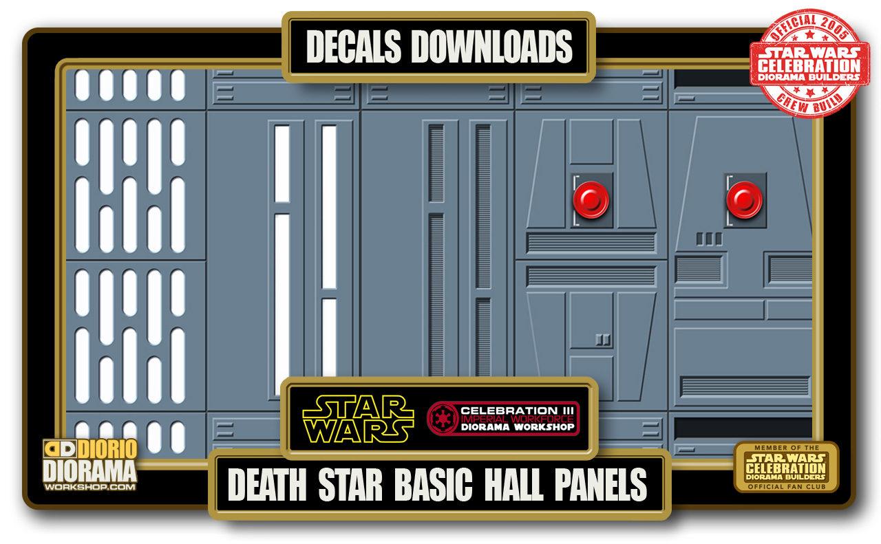 TUTORIALS • DECALS • DEATH STAR BASIC HALLWAYS