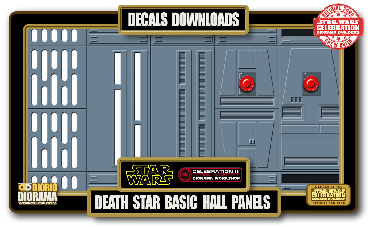 TUTORIALS • DECALS • DEATH STAR BASIC HALLWAYS