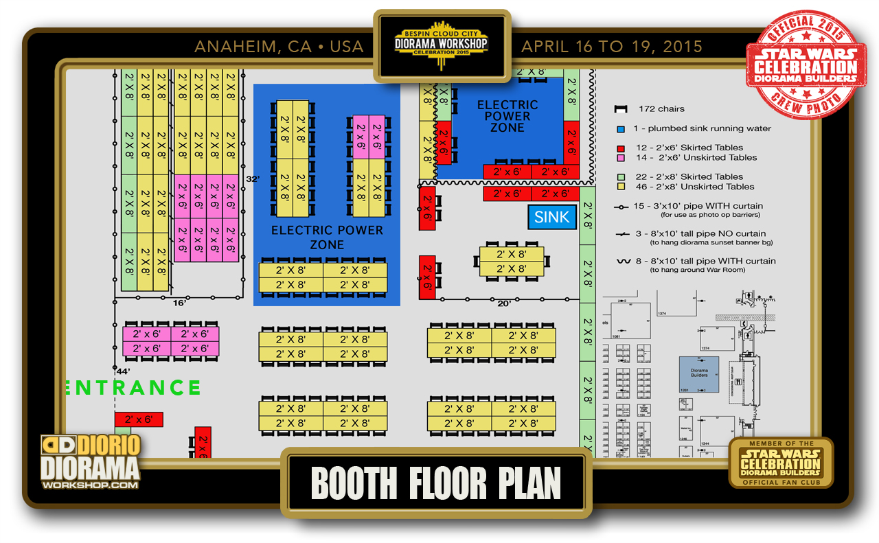 CONVENTIONS • C7 PRE PRODUCTION • BOOTH FLOOR PLAN