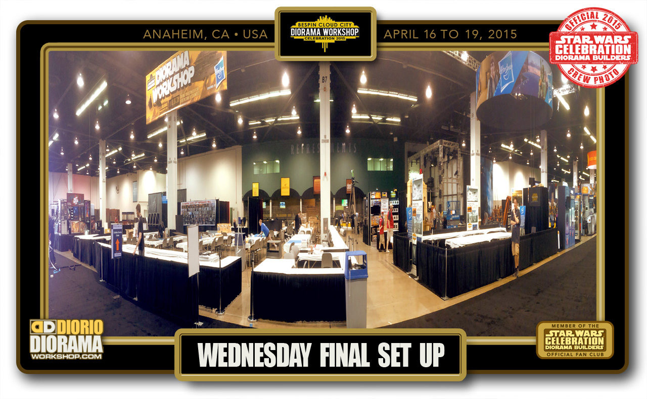 CONVENTIONS • C7 PRE PRODUCTION • WEDNESDAY FINAL SET UP