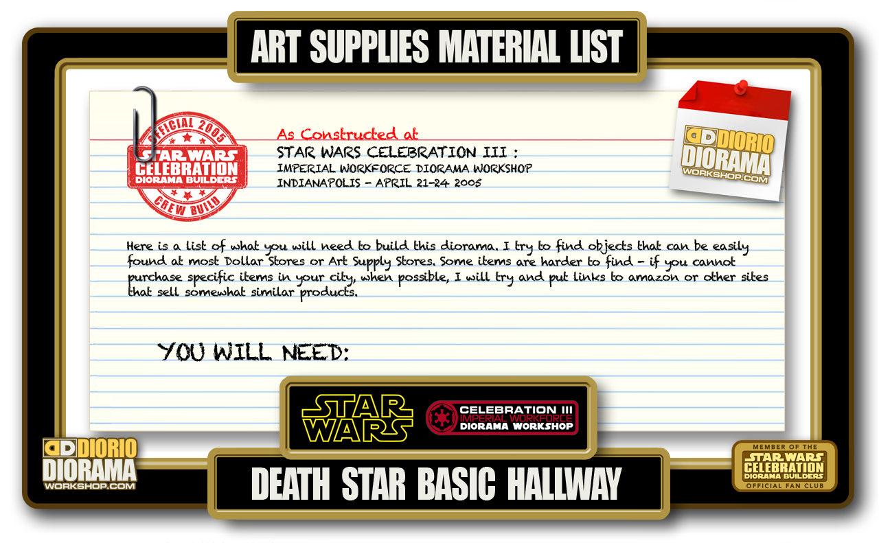 TUTORIALS • MATERIALS • DEATH STAR BASIC HALLWAYS