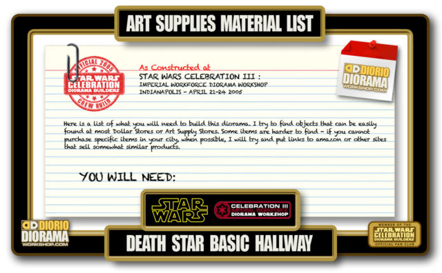 TUTORIALS • MATERIALS • DEATH STAR BASIC HALLWAYS