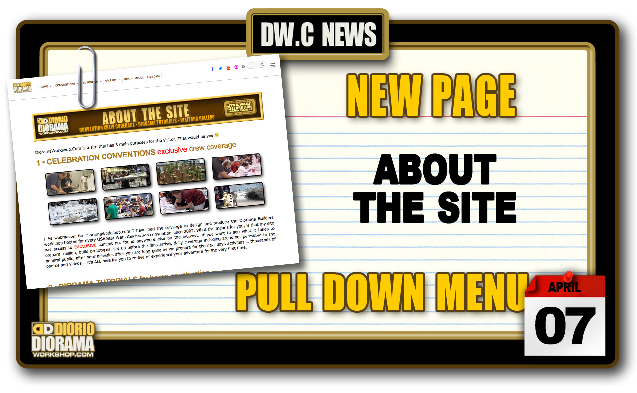NEW PAGE : ABOUT THE SITE