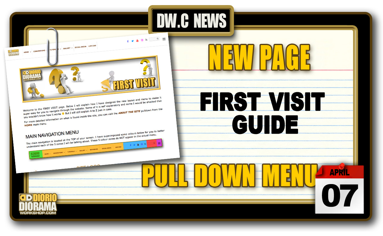 NEW PAGE : FIRST VISIT