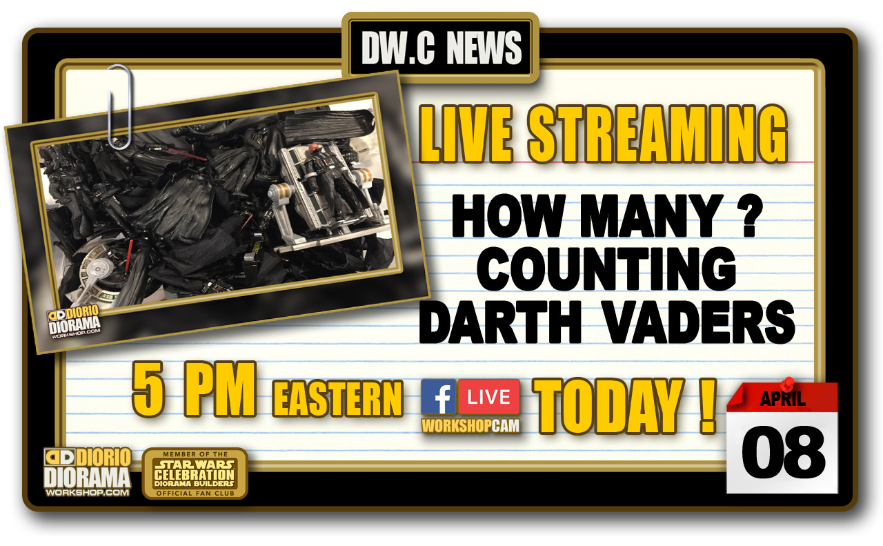 NEW WORKSHOP CAM : COUNTING DARTH VADERS
