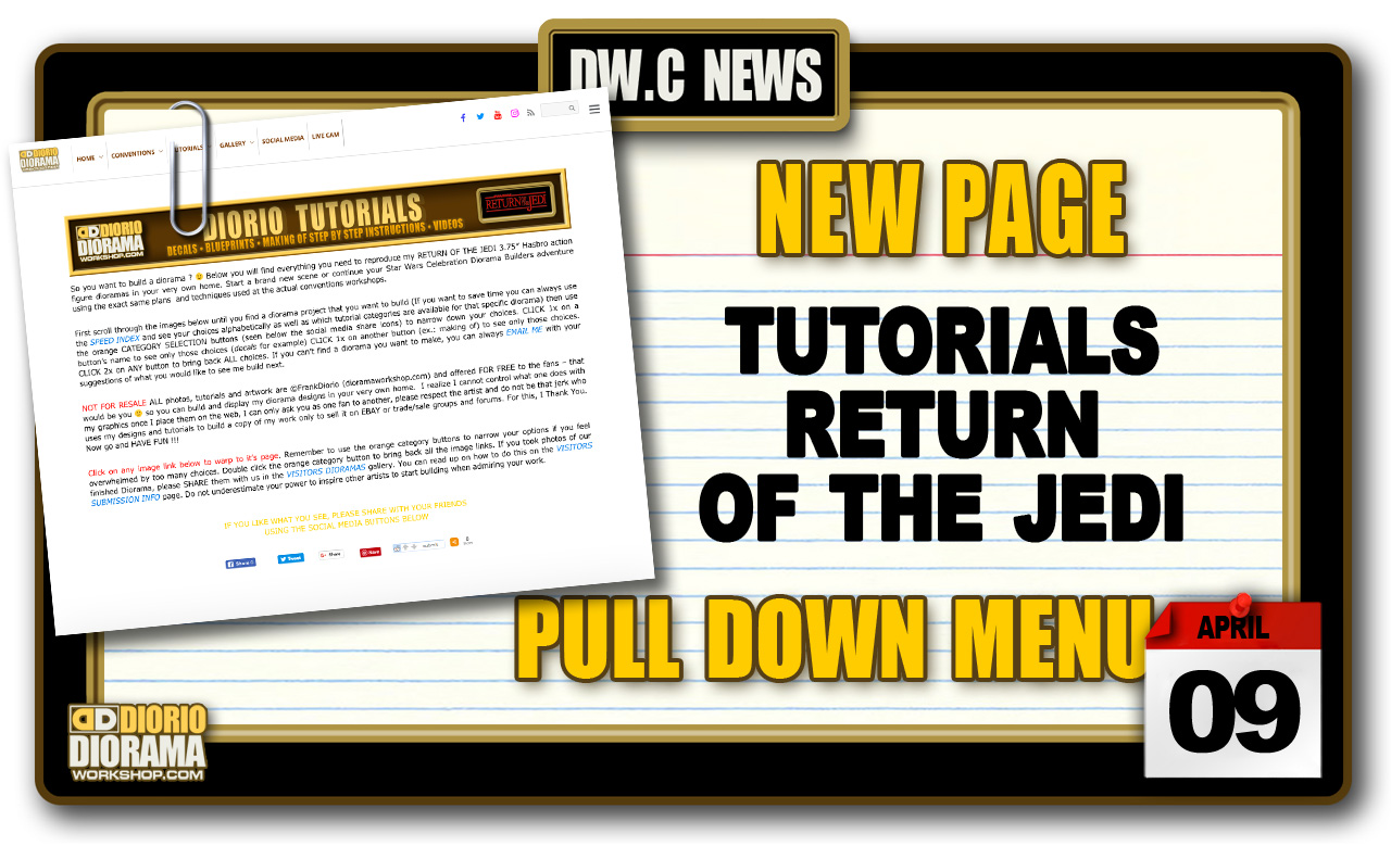 NEW PAGE : TUTORIALS RETURN OF THE JEDI