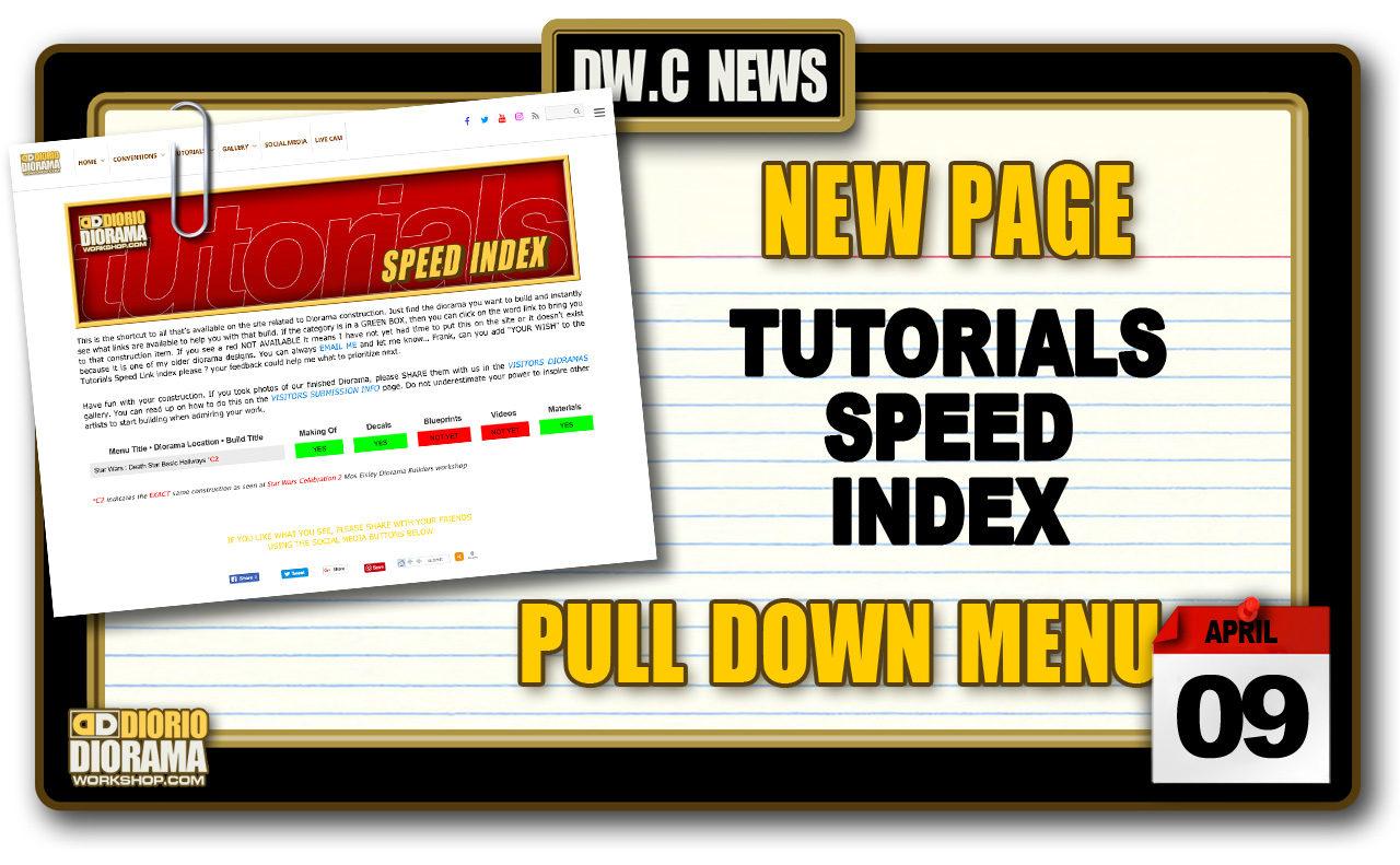 NEW PAGE : TUTORIALS SPEED INDEX