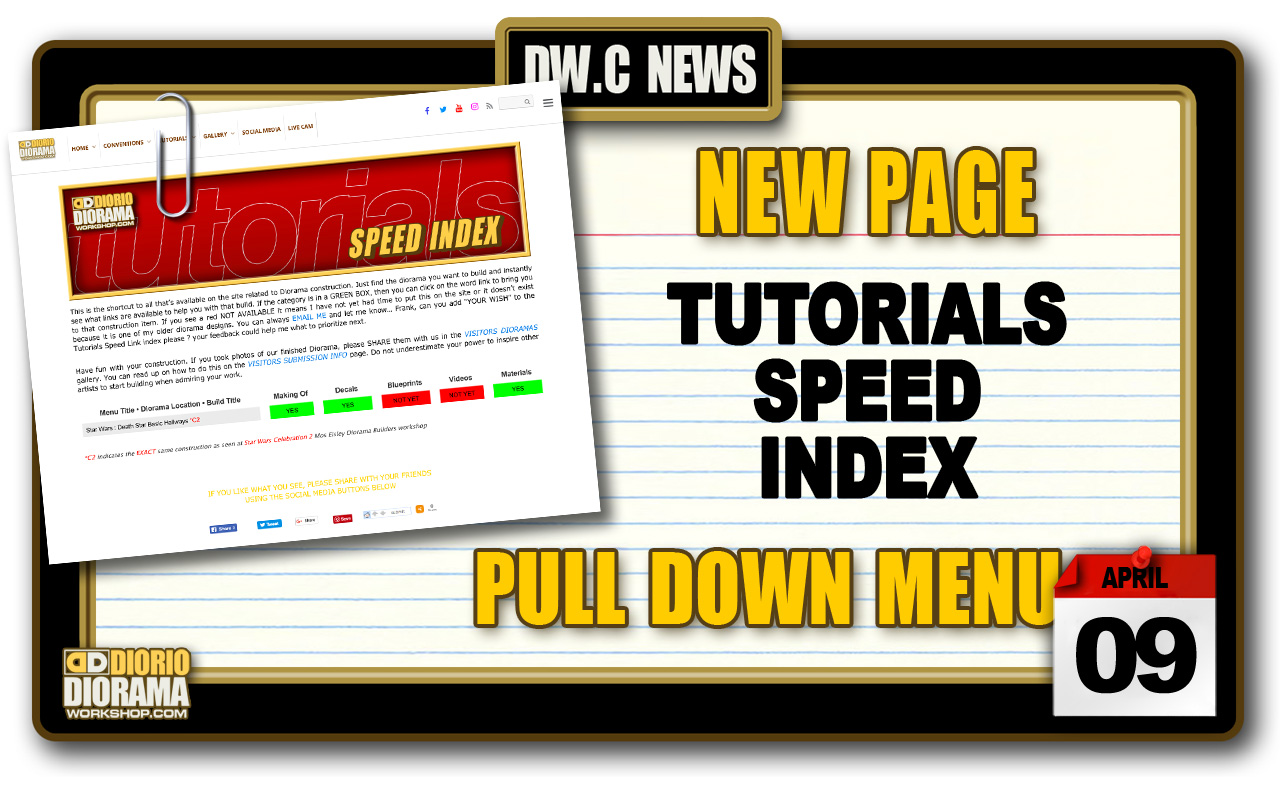 NEW PAGE : TUTORIALS SPEED INDEX
