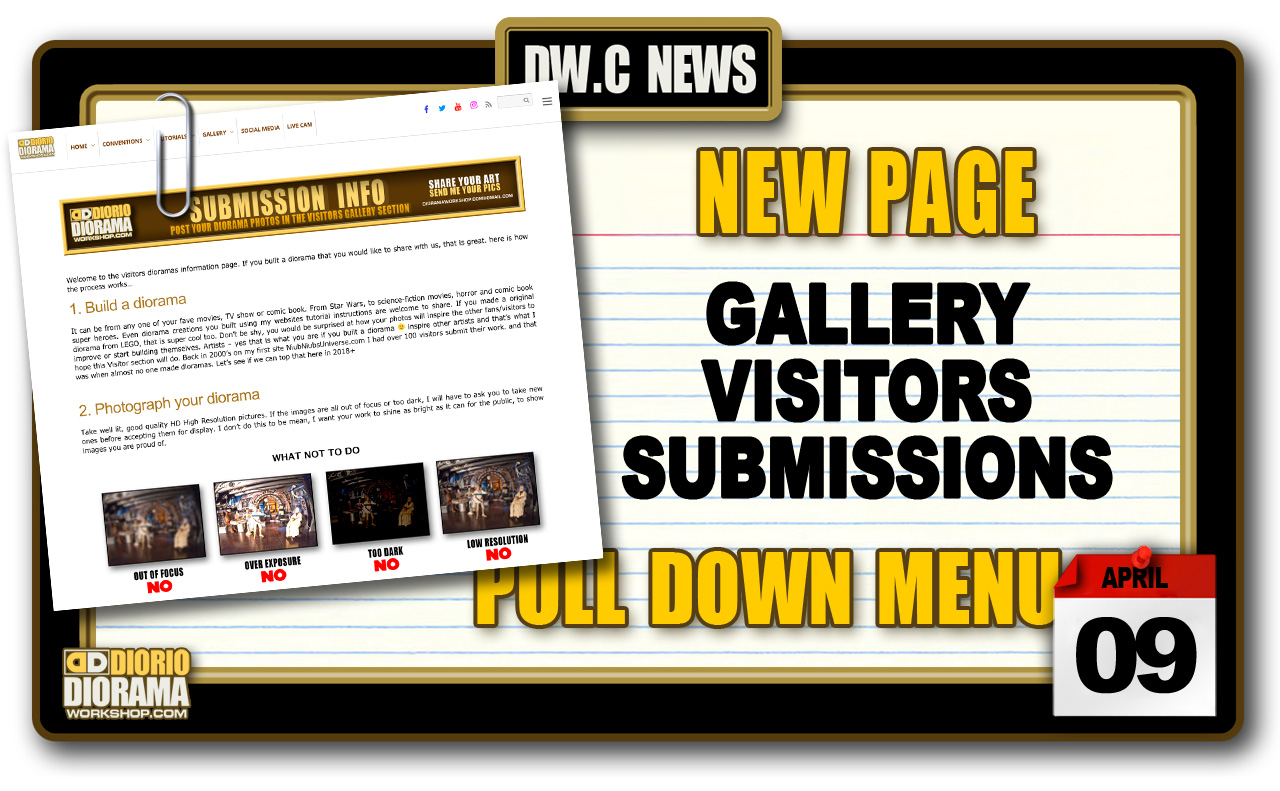 NEW PAGE : GALLERY VISITORS SUBMISSIONS INFO