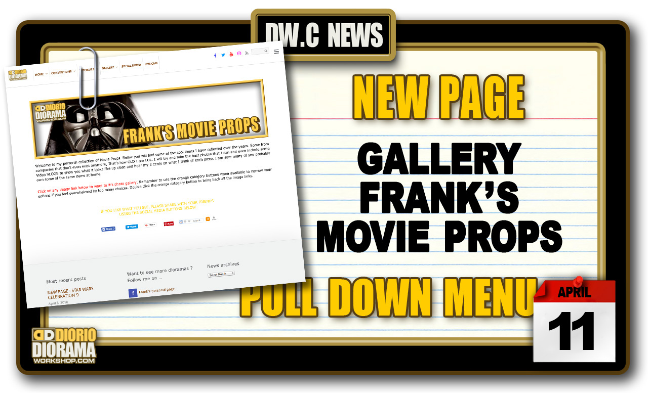 NEW PAGE : GALLERY FRANK'S MOVIE PROPS