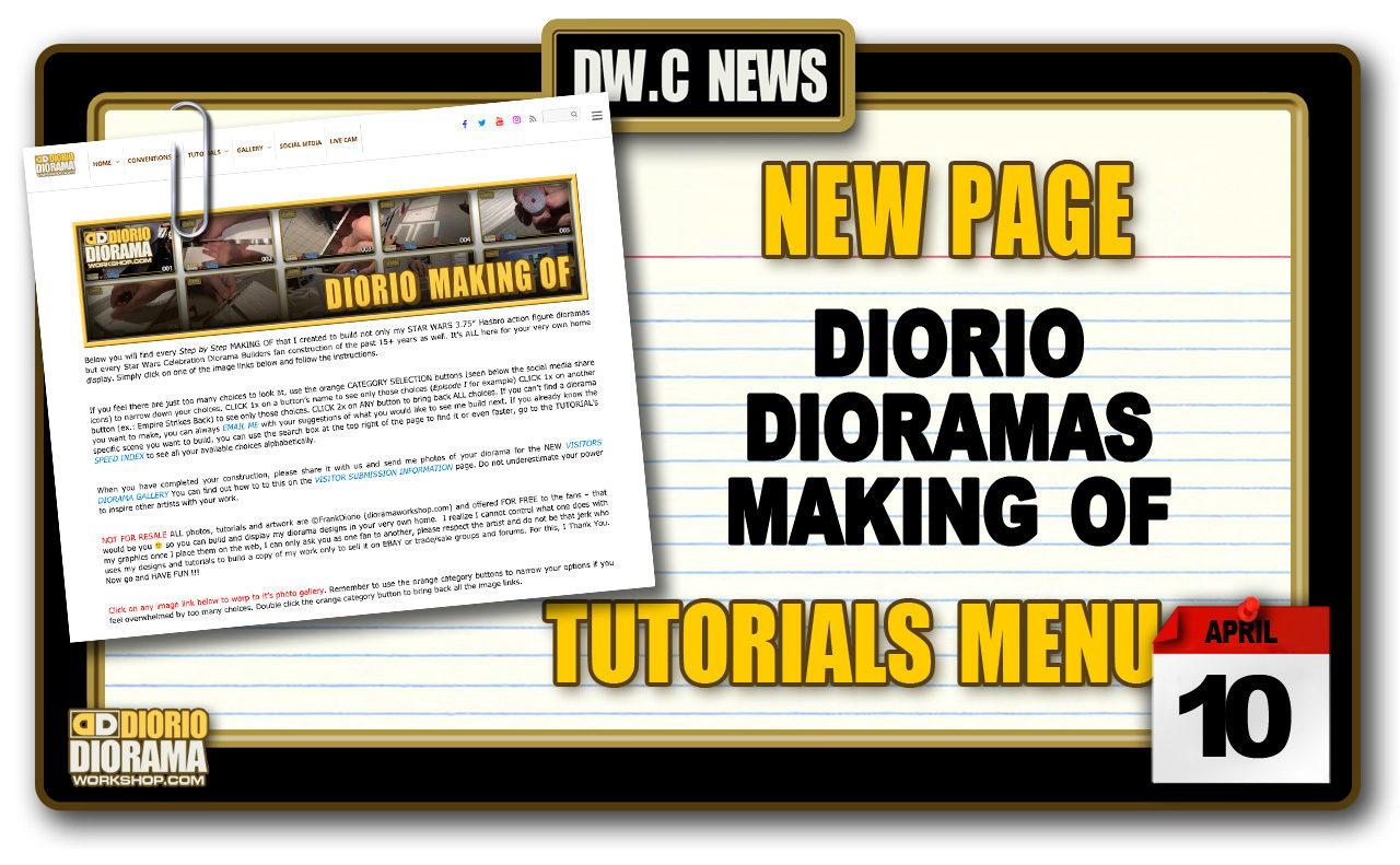 NEW PAGE : TUTORIALS DIORIO DIORAMAS MAKING OF