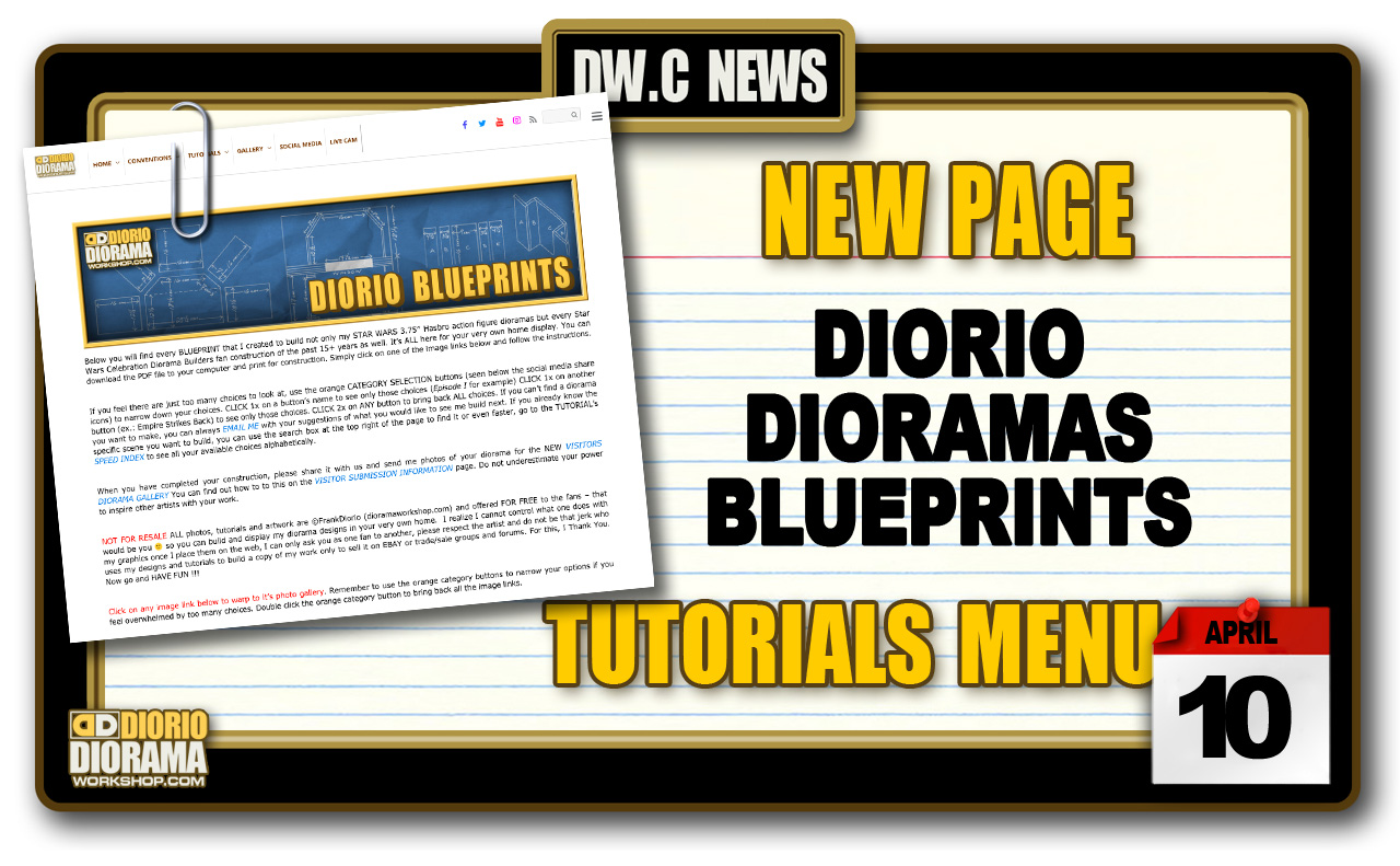 NEW PAGE : TUTORIALS DIORIO DIORAMA BLUEPRINTS