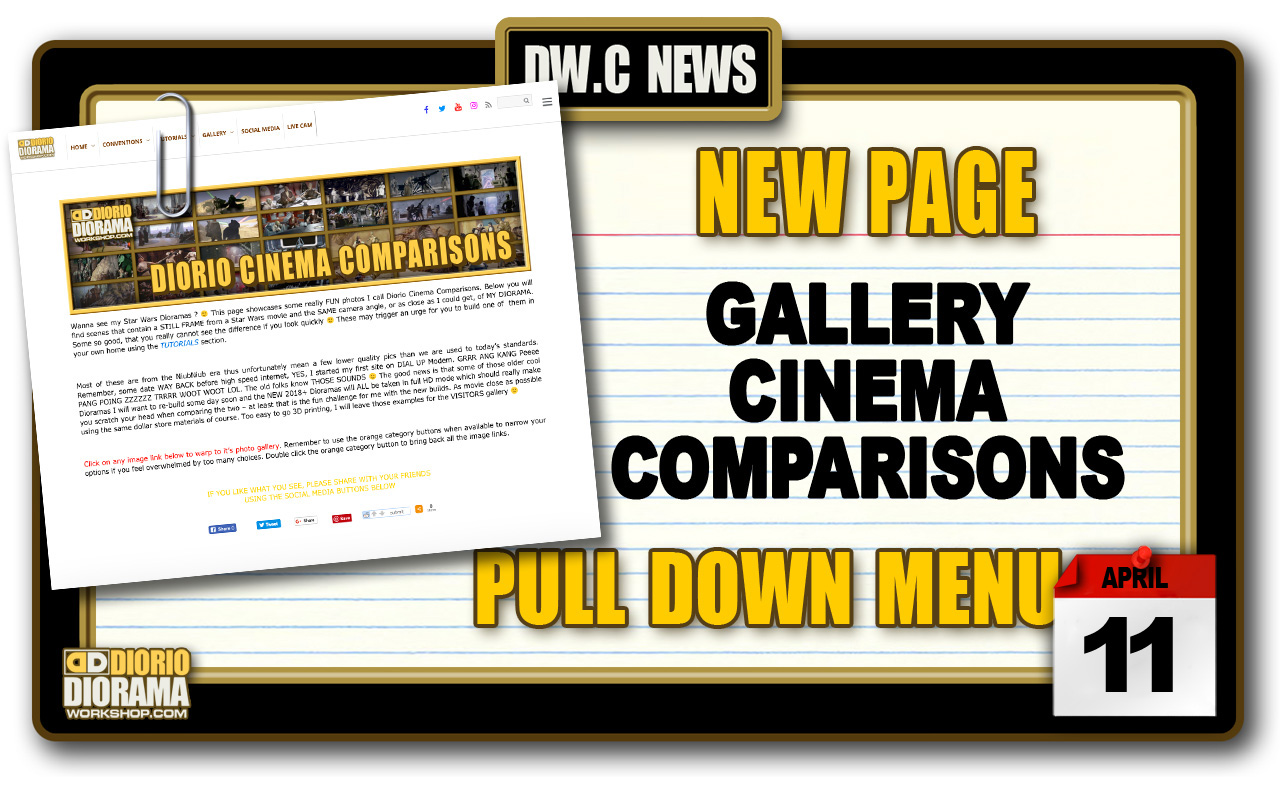 NEW PAGE : GALLERY CINEMA COMPARISONS DIORAMAS