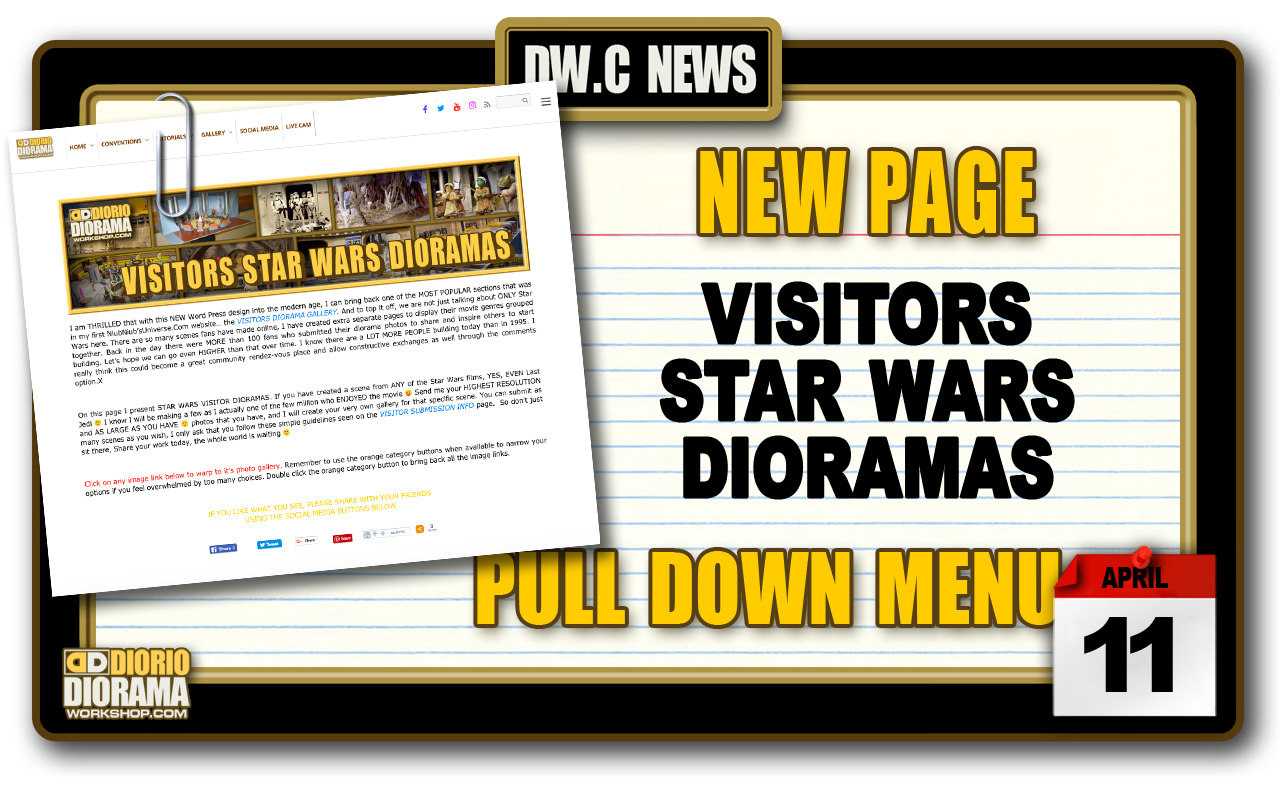 NEW PAGE : GALLERY VISITORS STAR WARS DIORAMAS