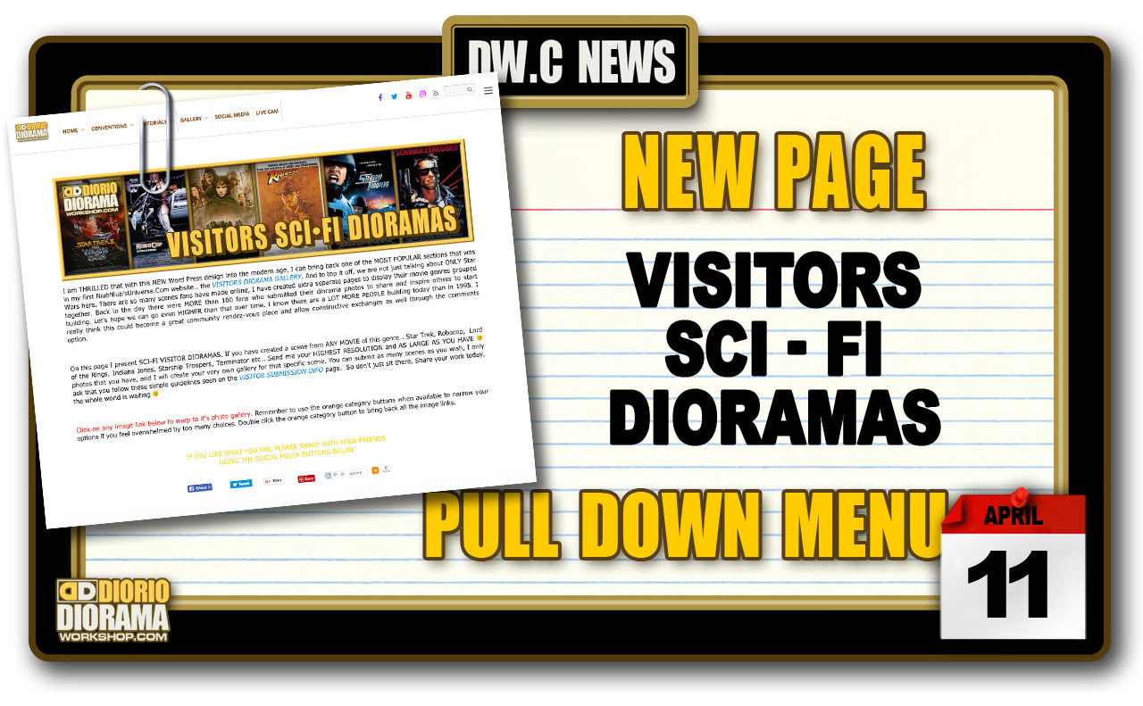 NEW PAGE : GALLERY VISITORS SCI-FI DIORAMAS