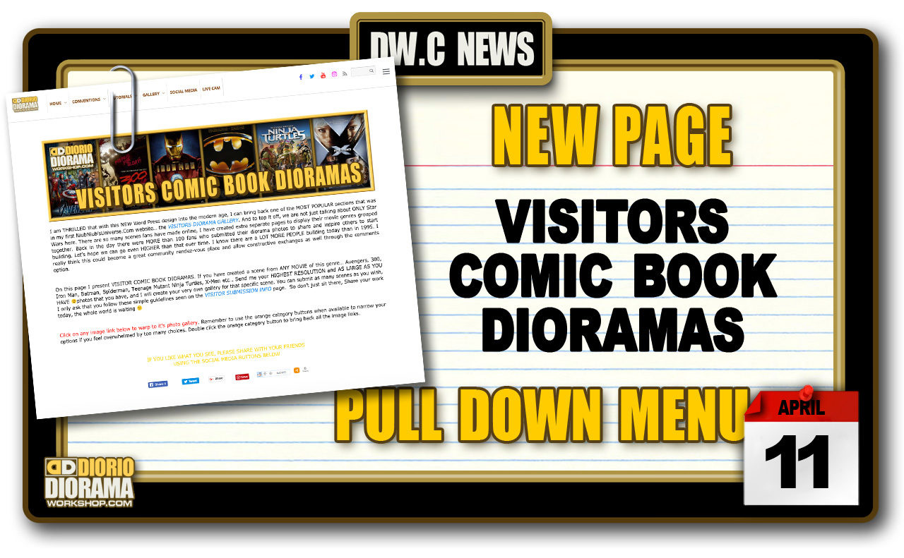 NEW PAGE : GALLERY VISITORS COMIC BOOK DIORAMAS