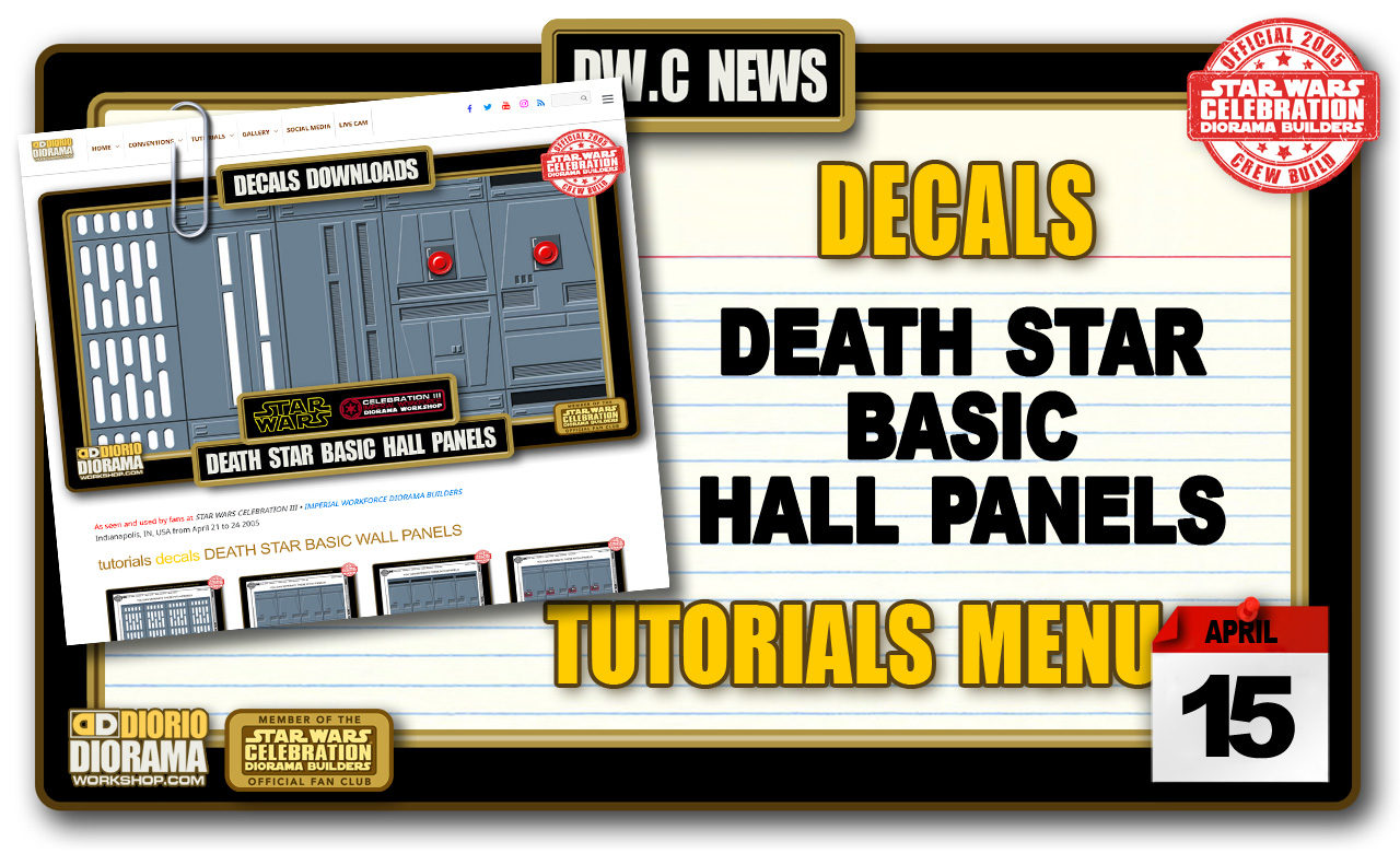 NEW DECALS • DEATH STAR BASIC HALL PANELS