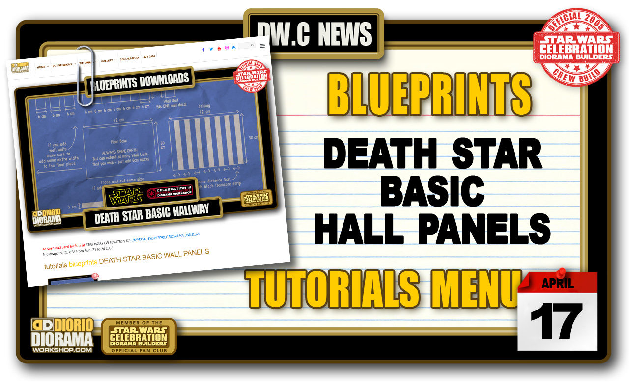 NEW BLUEPRINTS • DEATH STAR BASIC HALL PANELS