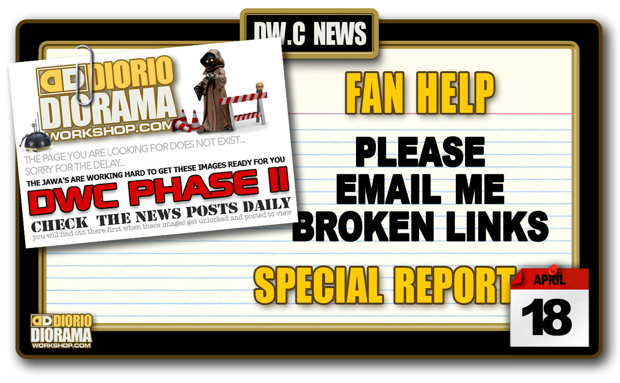 SPECIAL REPORT : FAN HELP FOR SITE'S BROKEN LINKS