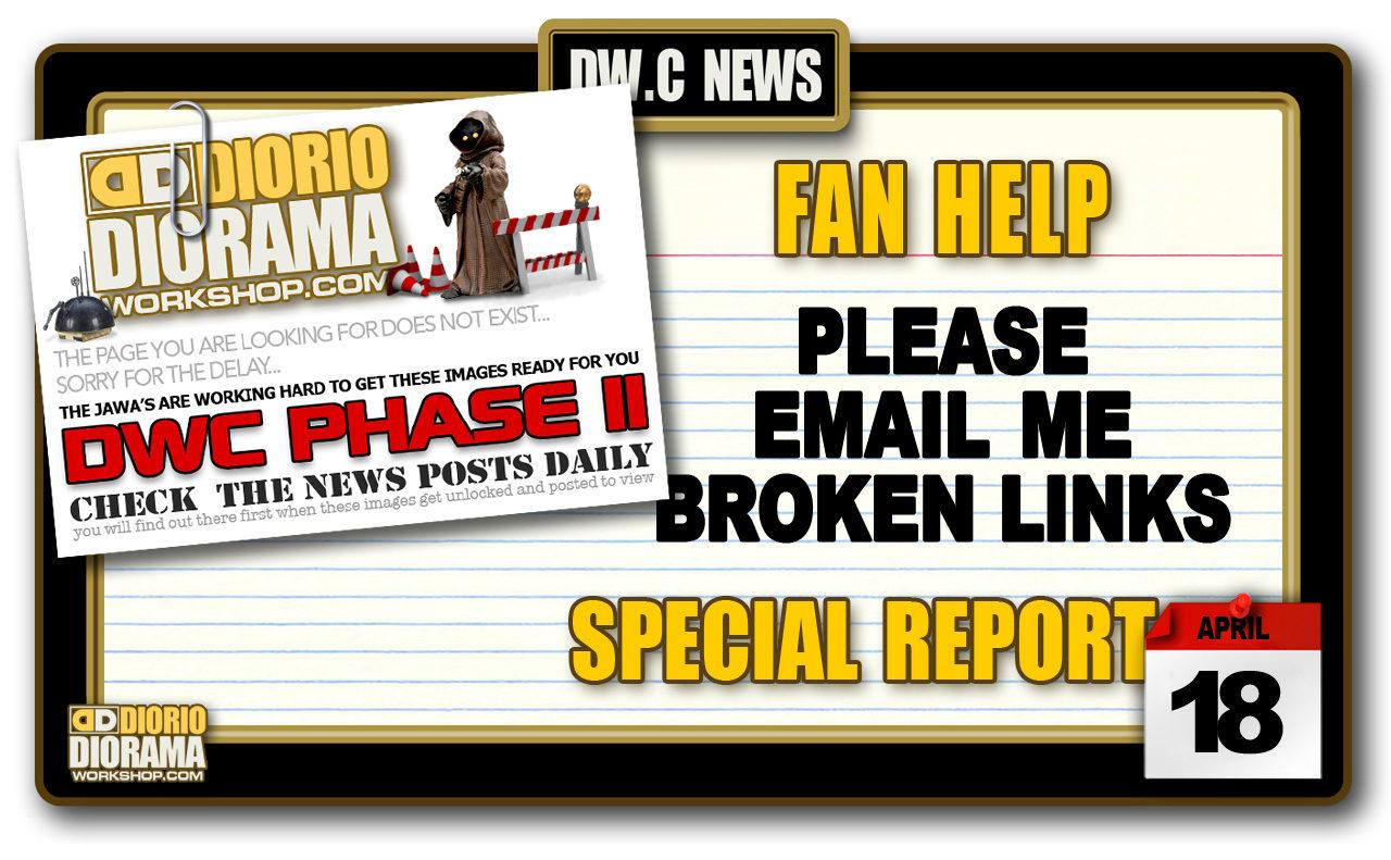 SPECIAL REPORT : FAN HELP FOR SITE'S BROKEN LINKS