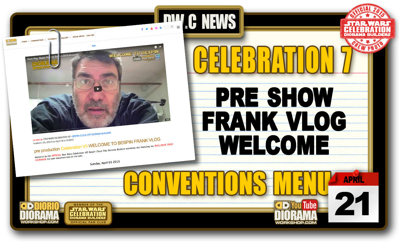 NEW YOU TUBE : CELEBRATION VII FRANK VLOG • WELCOME TO BESPIN