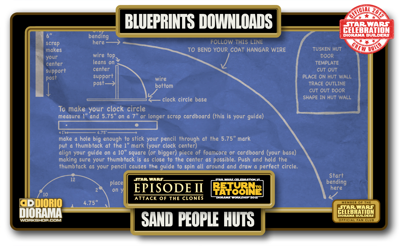 Tutorials blueprints sand people huts diorama workshop tutorials blueprints sand people huts malvernweather Gallery