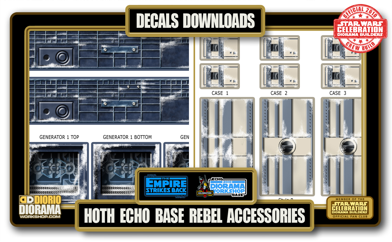 TUTORIALS • DECALS • ECHO BASE REBEL ACCESSORIES