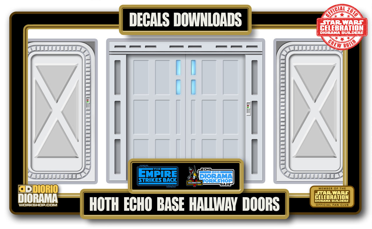 TUTORIALS • DECALS • ECHO BASE HALLWAY DOORS