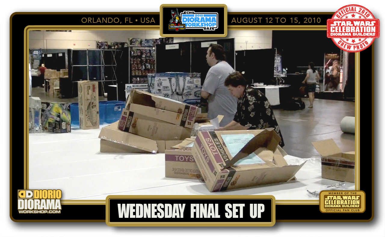 CONVENTIONS • C5 PRE PRODUCTION • WEDNESDAY FINAL SET UP