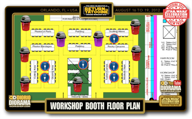 CONVENTIONS • C6 PRE PRODUCTION • WORKSHOP BOOTH FLOOR PLAN