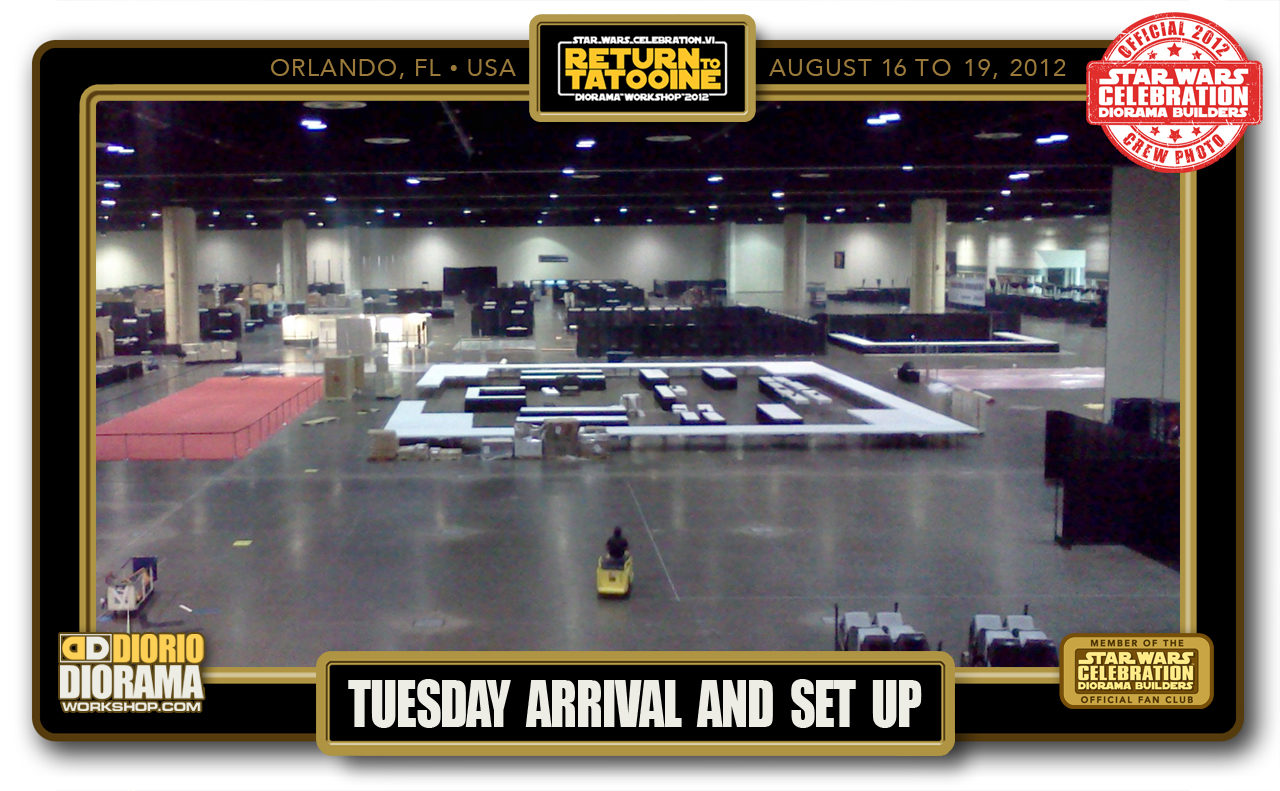 CONVENTIONS • C6 PRE PRODUCTION • TUESDAY ARRIVAL & SET UP