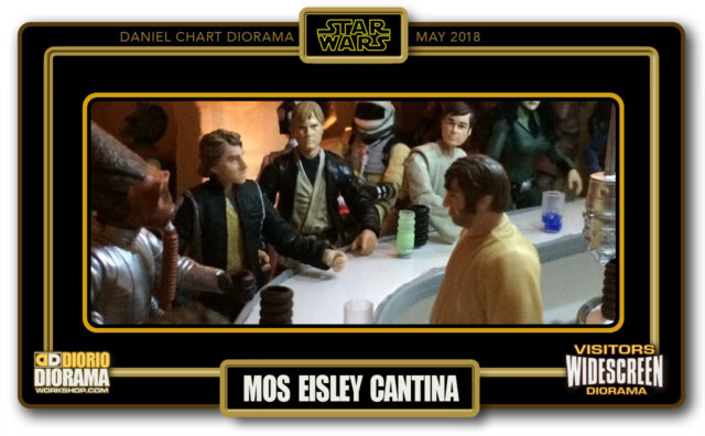 VISITORS WIDESCREEN DIORAMA • CHART • MOS EISLEY CANTINA