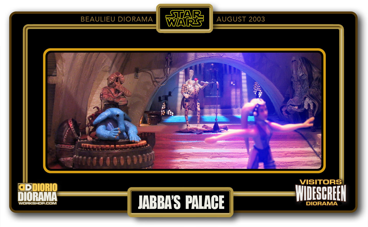 VISITORS WIDESCREEN DIORAMA • BEAULIEU • JABBA'S PALACE