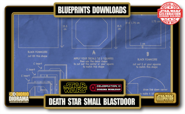 TUTORIALS • BLUEPRINTS • DEATH STAR SMALL BLASTDOOR