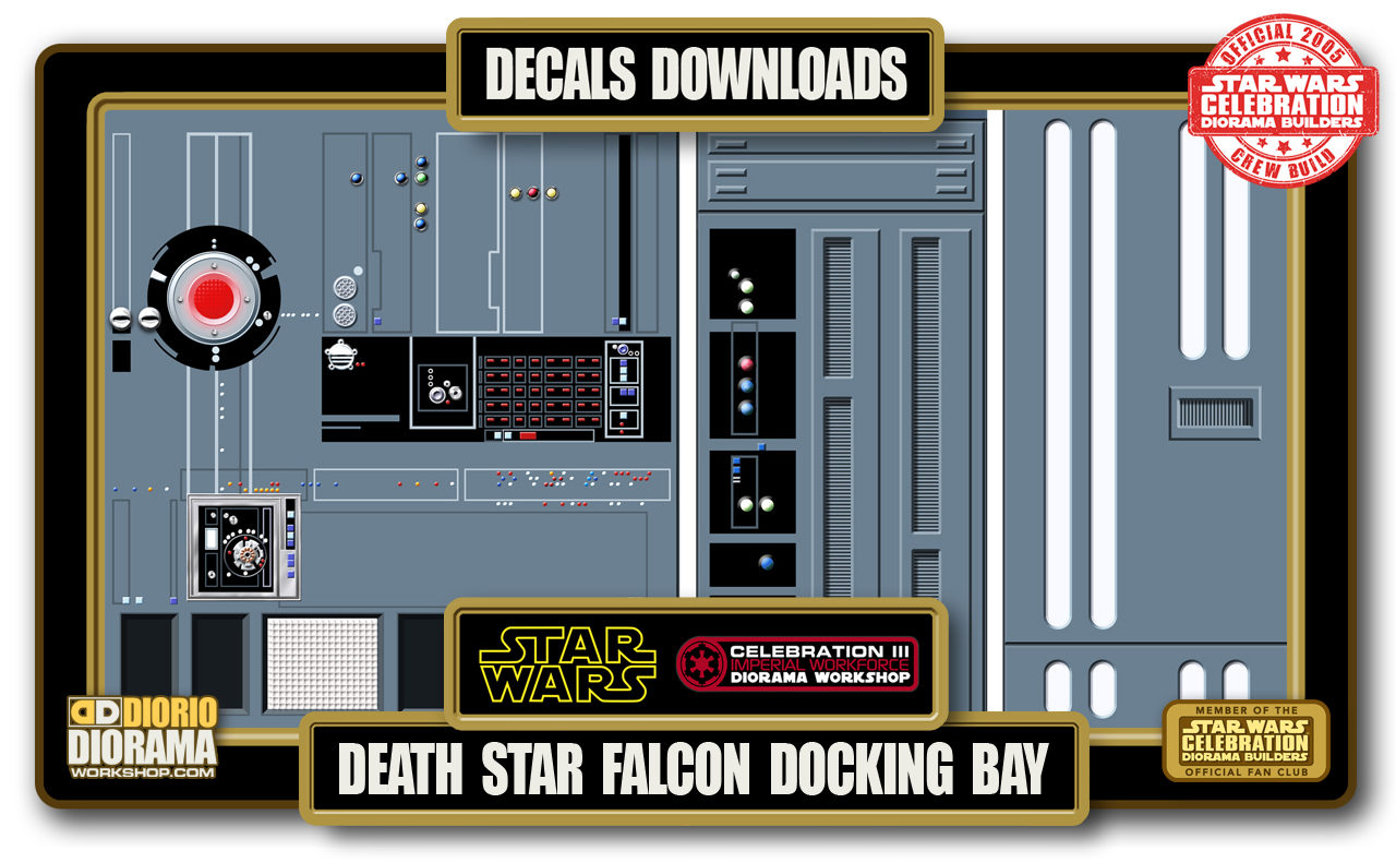 TUTORIALS • DECALS • DEATH STAR FALCON BAY