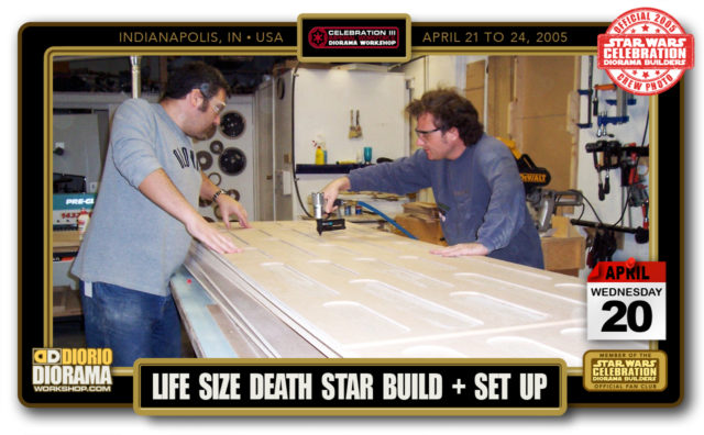CONVENTIONS  • C3 PRE PRODUCTION • LIFE SIZE DEATH STAR BOOTH CONSTRUCTION