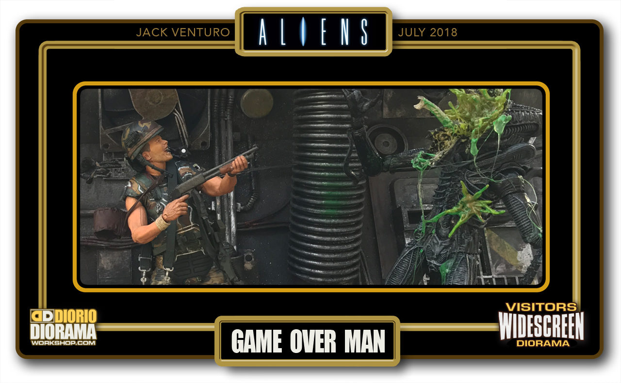 VISITORS WIDESCREEN DIORAMA • VENTURO • ALIENS : GAME OVER MAN