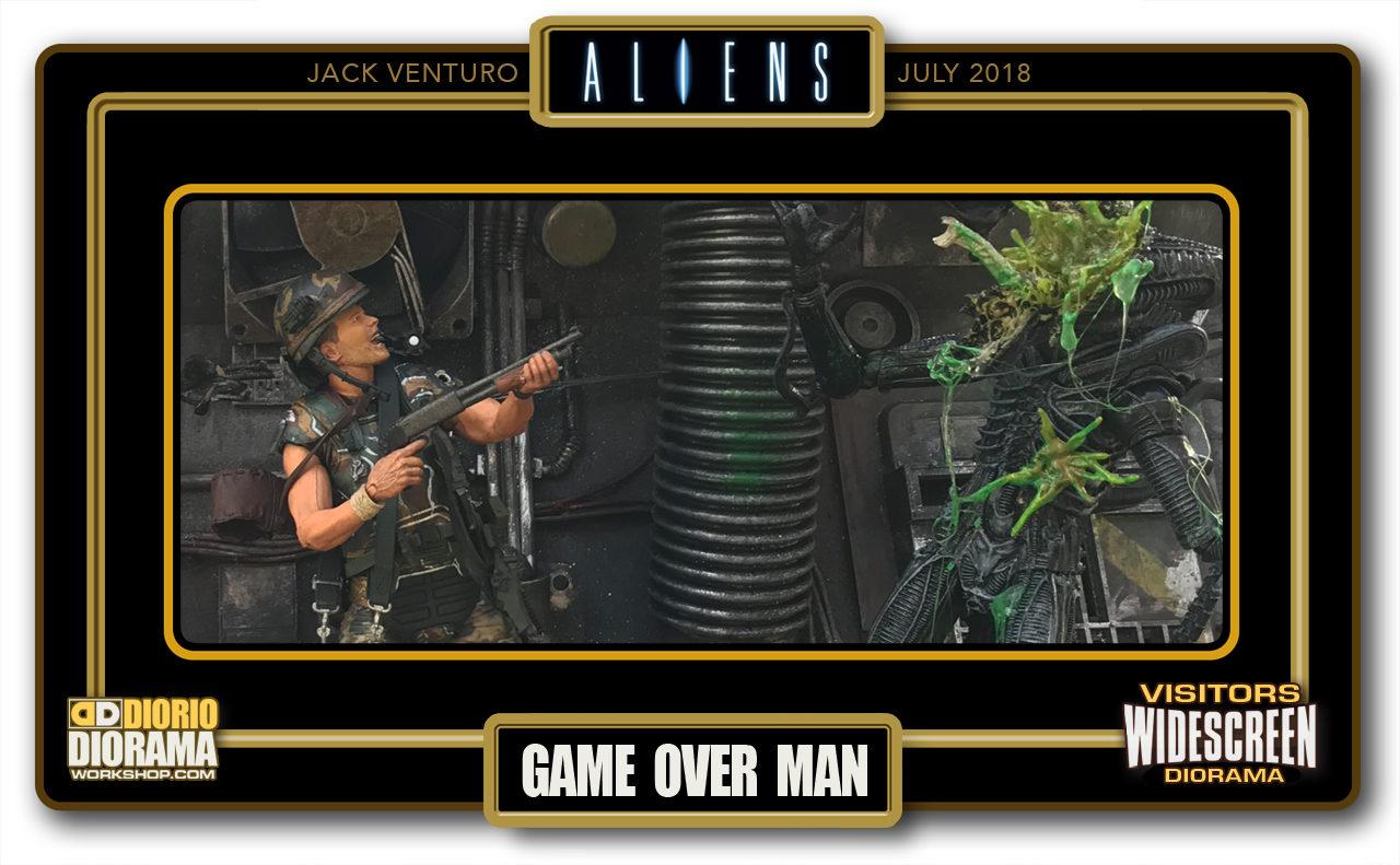 VISITORS WIDESCREEN DIORAMA • VENTURO • ALIENS : GAME OVER MAN