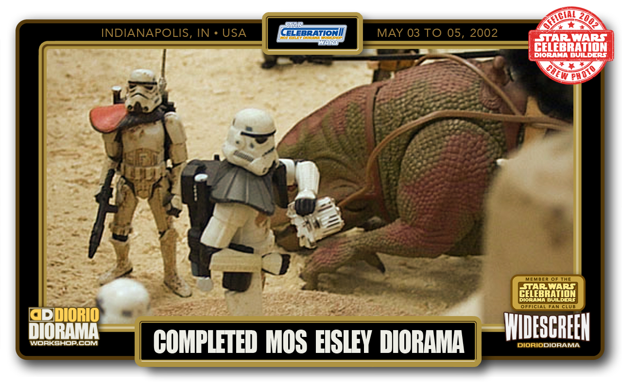 CONVENTIONS • C2 PRODUCTION • COMPLETED MOS EISLEY DIORAMA WIDESCREEN