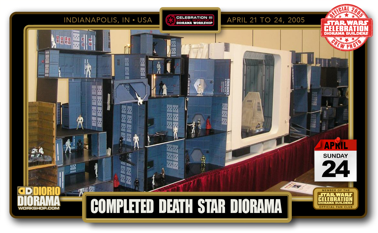 CONVENTIONS • C3 PRODUCTION • COMPLETED DEATH STAR DIORAMA