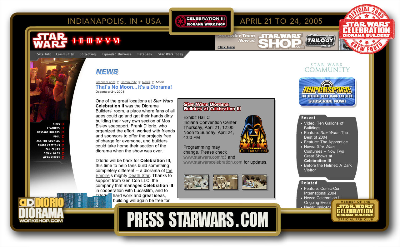 CONVENTIONS • C3 PRE PRODUCTION • STAR WARS COM