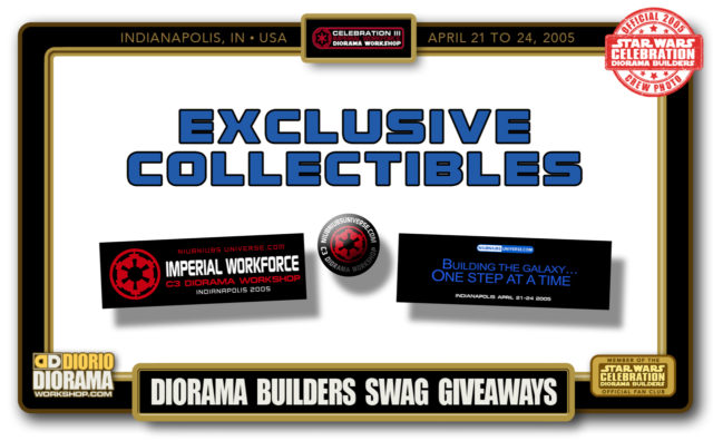 CONVENTIONS • C3 PRODUCTION • DIORAMA BUILDERS SWAG GIVEAWAYS