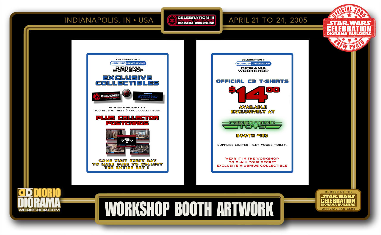 CONVENTIONS • C3 PRODUCTION • WORKSHOP BOOTH ARTWORK