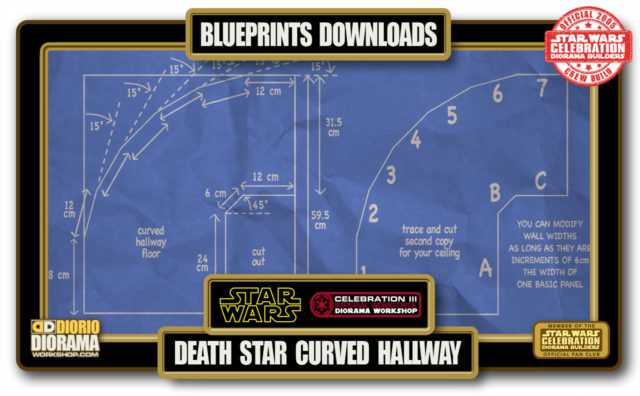 TUTORIALS • BLUEPRINTS • DEATH STAR CURVED HALLWAY