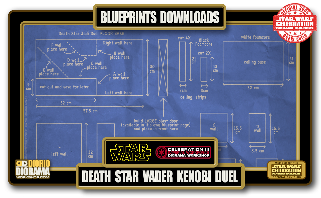 TUTORIALS • BLUEPRINTS • DEATH STAR VADER KENOBI DUEL HALLWAY