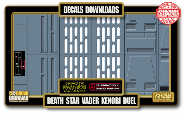 TUTORIALS • DECALS • DEATH STAR VADER KENOBI DUEL HALLWAY