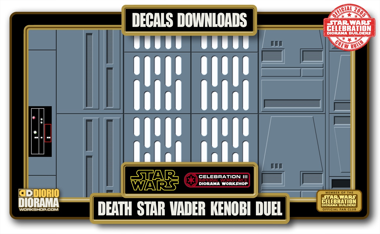 TUTORIALS • DECALS • DEATH STAR VADER KENOBI DUEL HALLWAY