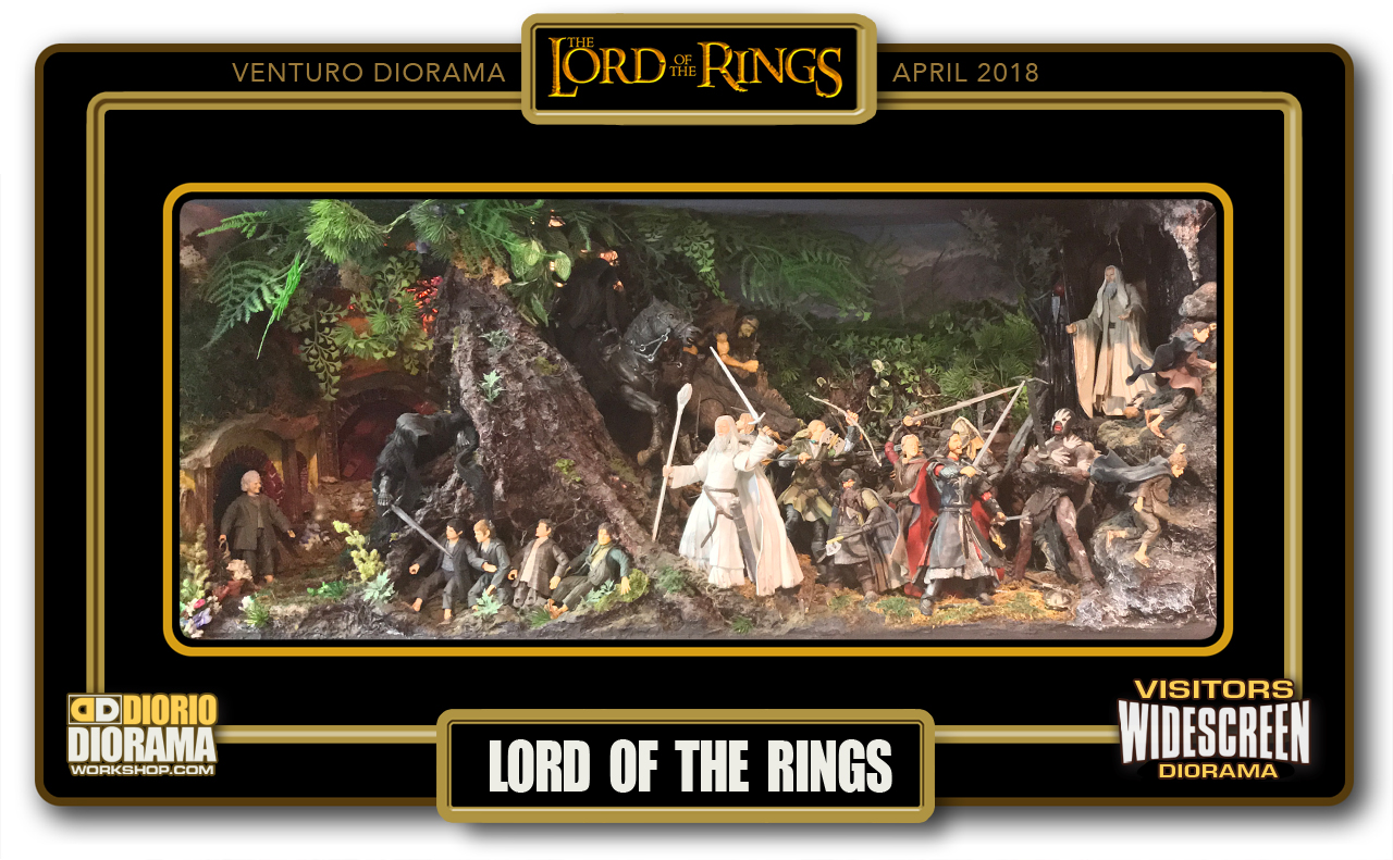 VISITORS WIDESCREEN DIORAMA • VENTURO • LORD OF THE RINGS